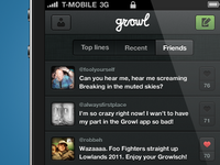 Growl iPhone interface