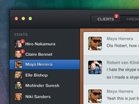 Skype chat in my world