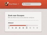 Web app slider