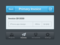Iphone invoice UI