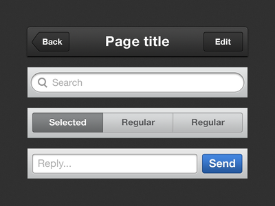 iOS Assets ios iphone ui retina wip button tap bar filter comment
