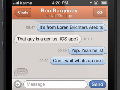 iPhone messages ios messages chat app ui typing bubble iphone
