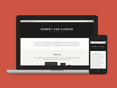 Robertvanklinken.com responsive milestone webdesign html css
