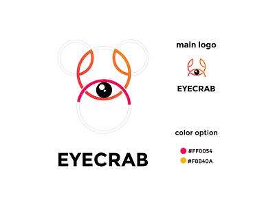 eyecrab coloring logo vector ux ui typography logo illustration icon design branding app