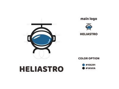 helicopter and astronout logo ux vector ui typography logo illustration icon design branding app