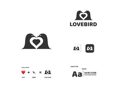 heart and bird bird love ux vector ui typography logo illustration icon design branding app