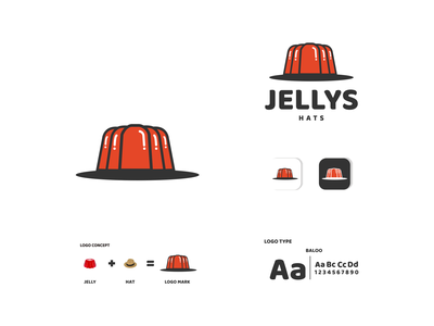 jelly and hat hat jelly ux vector ui typography logo illustration icon design branding app