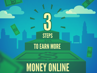 3 Steps to earn more money! …hope so