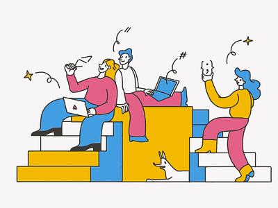Rejected sketch for Beetroot website main page team sketch coding landing page web design illustration