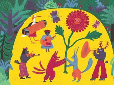 Illustration for a children book primitive naive illustraion literature kidlitart picture book children book children book