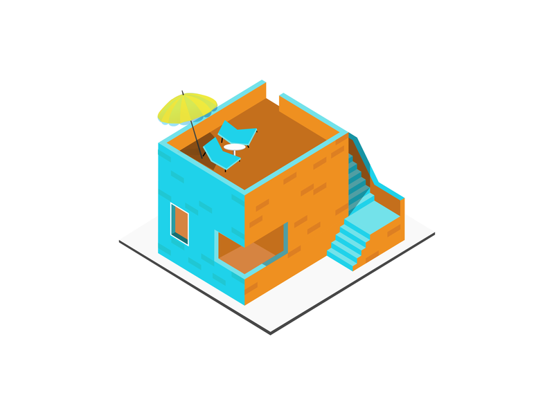 Isometric Design - Mini Builidng Illustration