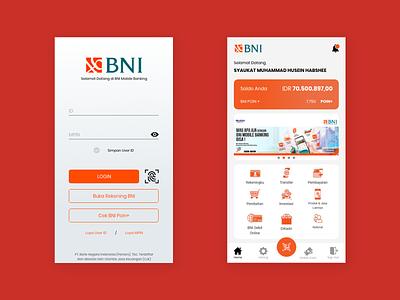 BNI Mobile Banking - Mobile UI Re-Design redesign bni bank app mobile ux ui adobe photoshop photoshop graphic design illustration design