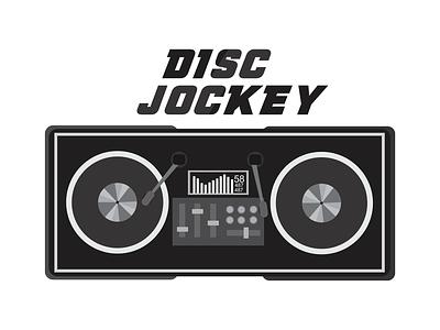 Disc Jockey disc jockey art coreldraw illustration design drawing