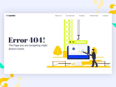 Error Screen UI Concept Design