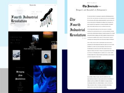 Blog Webpage Design Concept
