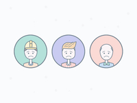 Empty state Icons drawing vector website minimal app icon people state illustration ux flat ui