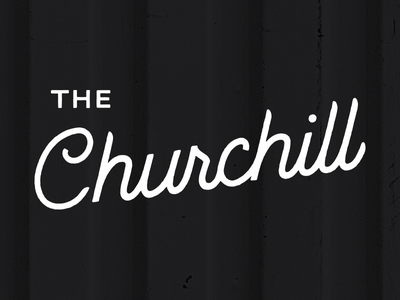 The Churchill type wordmark logo identity lettering