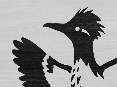 The Churchill illustration bird roadrunner identity logo