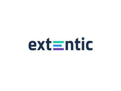 Extentic logo color extend software it logo