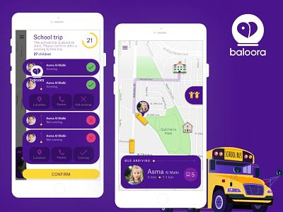 Baloora- School Bus Tracking App mobile app mobile appplication development mobile application school app tracking app