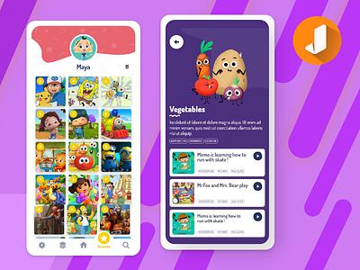 Juvi – Video App for Kids mobile application mobile app development mobile apps kids app video app