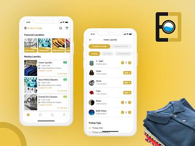 EasyClean: On-demand Laundry App app development mobile app mobile app development laundry app on demand app