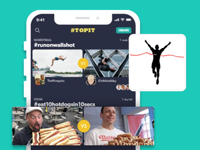 Topit - Video and Image competition app social network mobile app competition video and image game