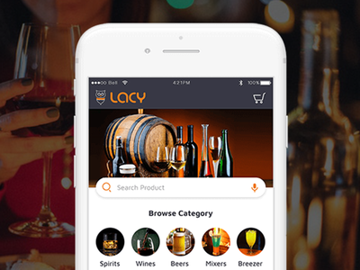 Lacy- Alcohol Delivery App android ios ondemand delivery app mobile app