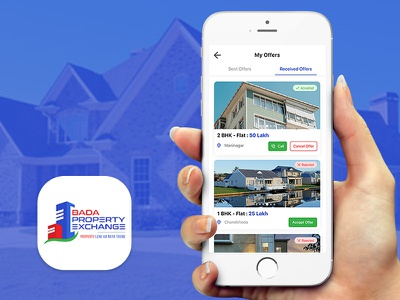 Bada Property Exchange App design mobile apps property marketing property exchange property search