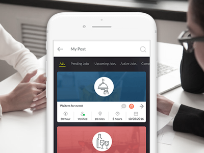 JOBbeJOB - On-demand Staffing App staffing app on demand mobile app job posting job seeker job application