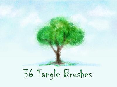 Tangle Brushes doodle draw drawing illustration adobe illustrator brushes tangle