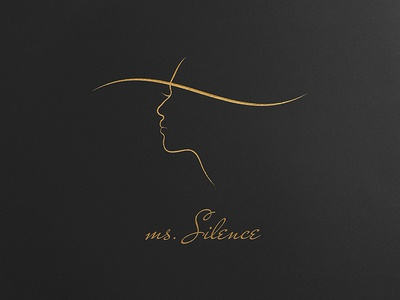 ms.Silence - Logo for Business Card Template woman rich minimal luxurious logo gold feminine female elegant business style beauty business card