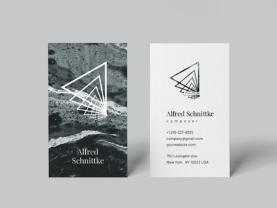 Alfred. Business card template modern calling card business business card branding brand identity black black and white