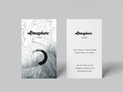 Atmosphere. Business Card Template [#free] le-genda psd marble creative corporate classic calling card business card branding business card template free download free