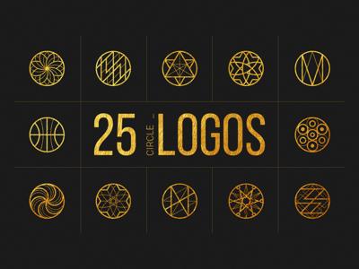 25 Linear Geometric Logos. Part II vector template symbol outline minimal logo line label identity geometric branding brand