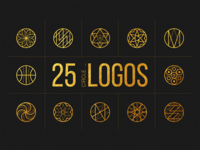 25 Linear Geometric Logos. Part II