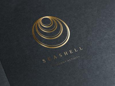 Seashell. Linear geometric logo solar-logo linear-geometry-logo golden-logo golden-linear-logo geometry-logo