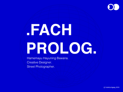.FACH PROLOG. visual identity visual creative direction creative design welcome shot personal branding typography design