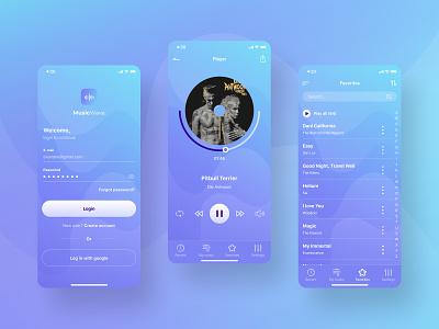 Music App UI/UX Design music music app player player ui music player app ux ui design mobile app design mobile design mobile app mobile ui mobile