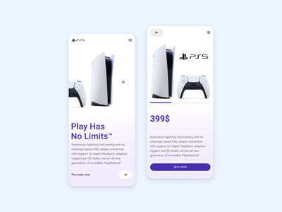 Minimalist concept PS5 mobile design mobile concept playstation 5 ps5 app uidesign ux ui ux design ui design