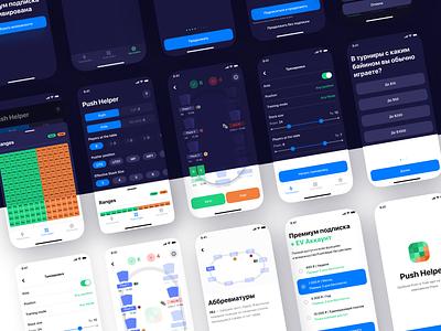 Poker App (ios) push helper poker app poker application app design mobile design app ux ui