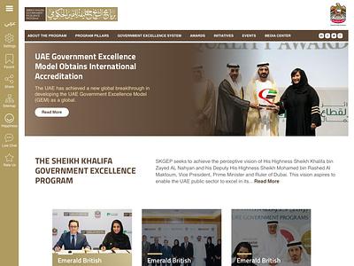 Website Design for SKGEP web ux web design webdesign govt website dubai uae