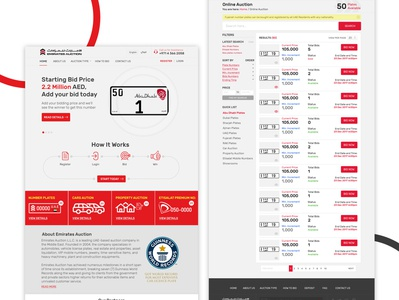 Concept Design for Emirates Auction Website