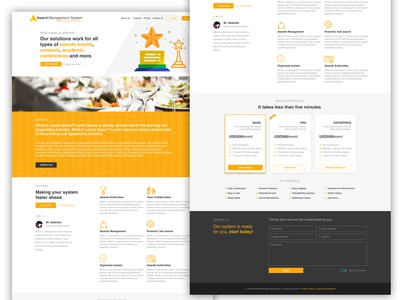 Award Management System Website