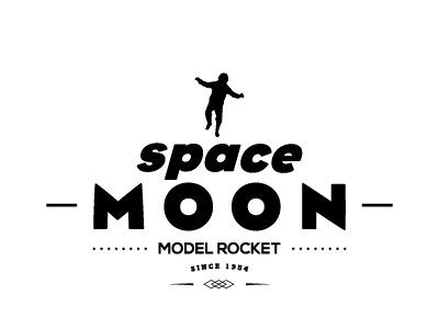 Space Moon graphic design