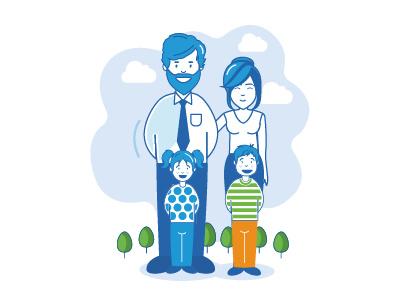 Family Infography illustration illustration