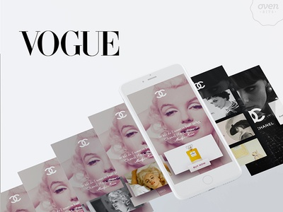 Vogue App - Ads That Tell A Story editorial ads animation ios ux content user interface mobile design ui ixd fashion mobile