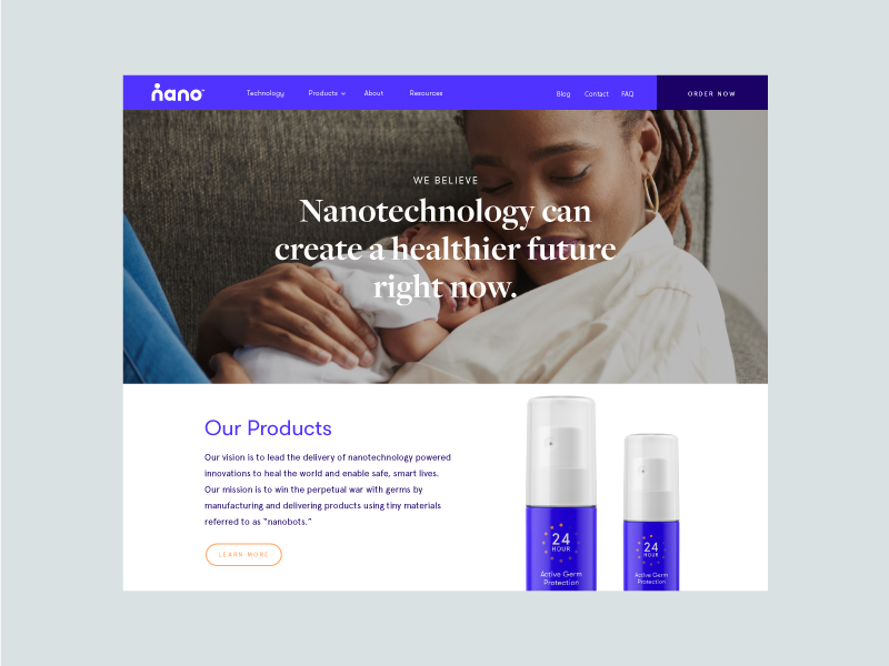 Nano website dribbble