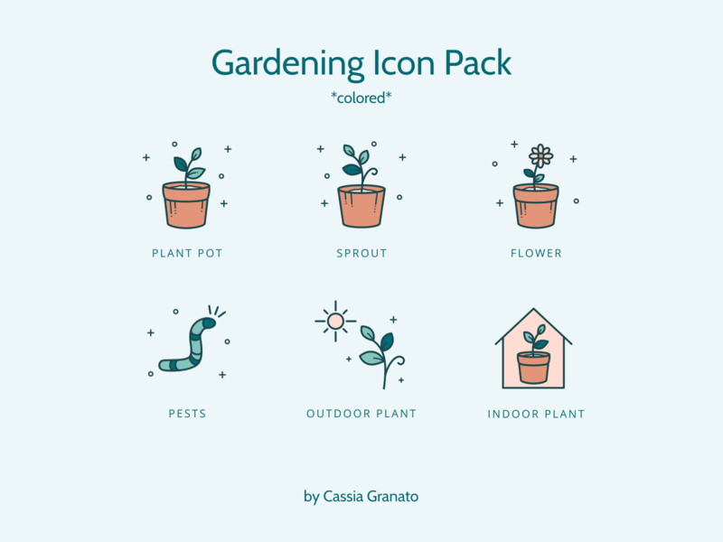 Colored Gardening Icon Pack gardening icon design icons design design icons pack icons