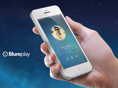Blureplay Music Application application phone ui ux web design music player
